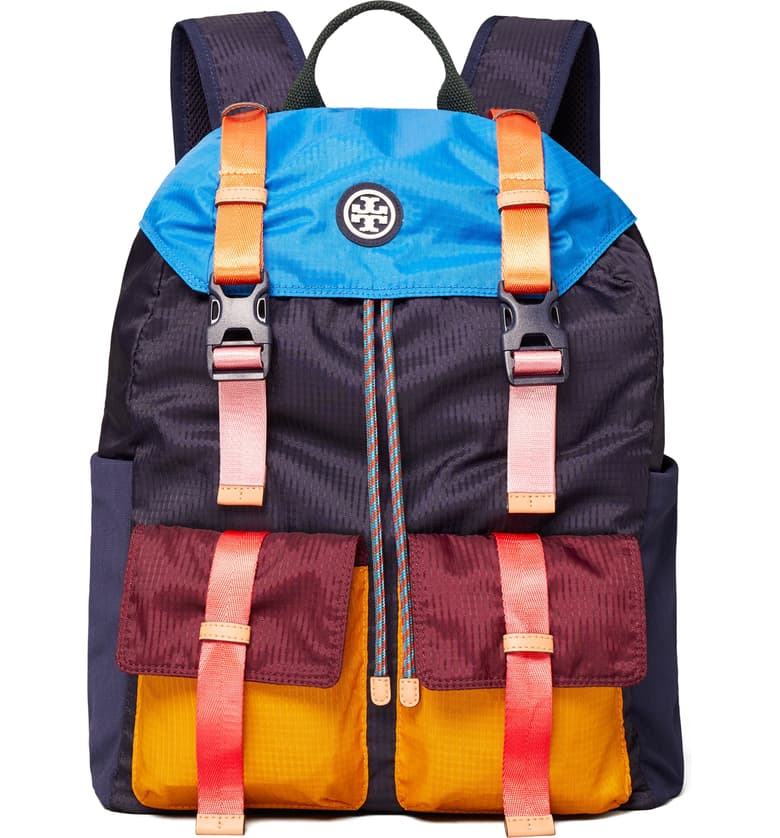 Colorblock Sport Backpack by Tory Burch