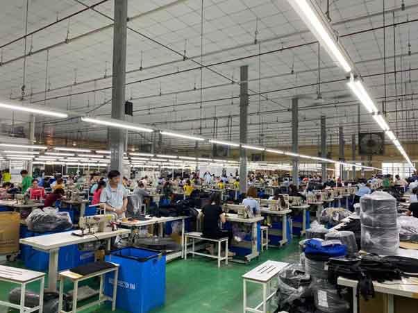 Xưởng may balo Thiên Phú
