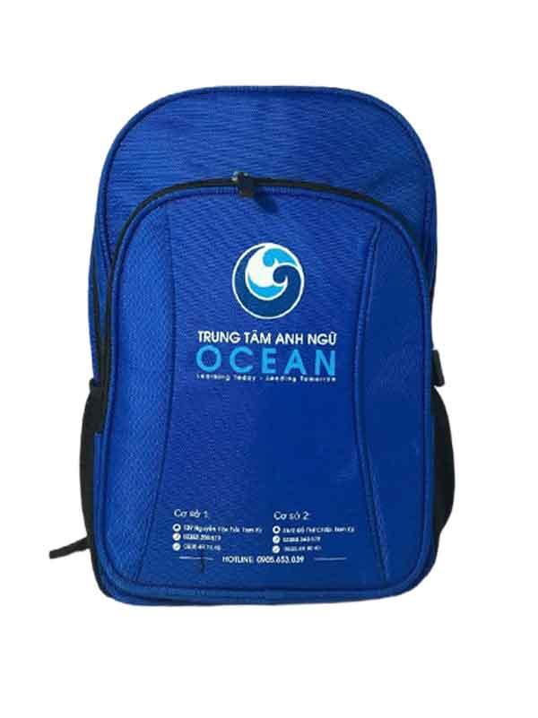 Mẫu Balo trung tâm anh ngữ OCEAN
